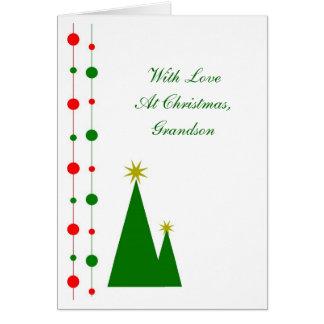 Árboles de navidad de la tarjeta de Navidad del