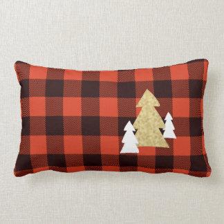 Árboles de navidad en la almohada de tiro lumbar