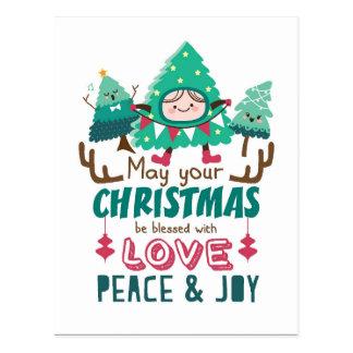 Árboles de navidad lindos postal