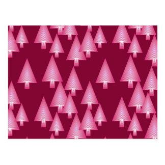 Árboles de navidad metálicos modernos - rosa y tarjeta postal