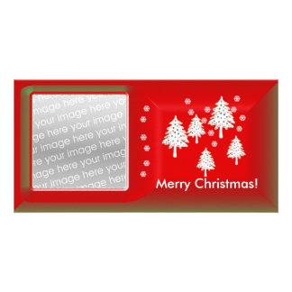 Árboles de navidad modernos tarjeta personal