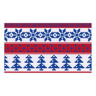Árboles de navidad nórdicos tarjetas de visita