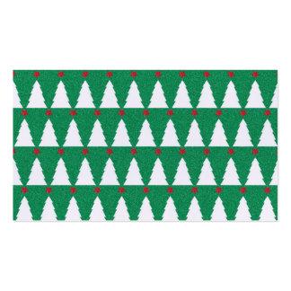 Árboles de navidad relucientes tarjetas de visita