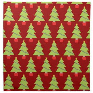 Árboles de navidad servilleta de tela