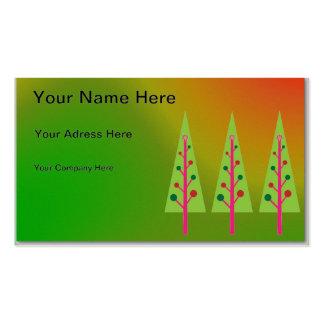Árboles de navidad tarjetas de visita