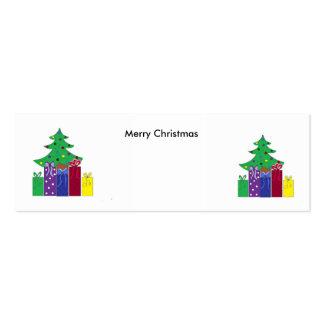 Árboles de navidad tarjetas de visita mini