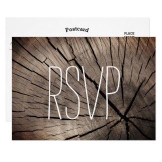 Árboles de RSVP y boda texturizado naturaleza Invitación 8,9 X 12,7 Cm