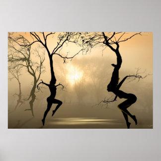Árboles del baile póster