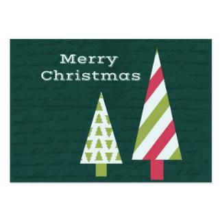 Árboles del gráfico de las Felices Navidad Tarjetas De Visita Grandes