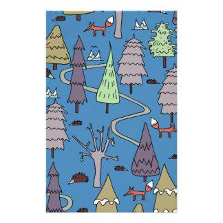 árboles del invierno papelería