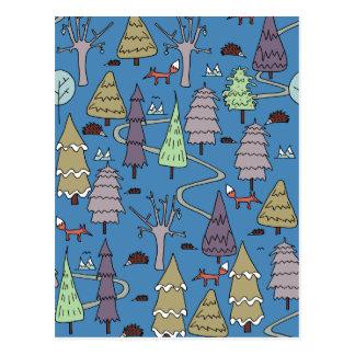 árboles del invierno postal
