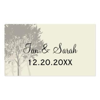 Árboles del invierno que casan la tarjeta del tarjetas de visita