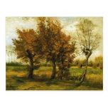 Árboles del paisaje cuatro del otoño de Van Gogh ( Tarjeta Postal