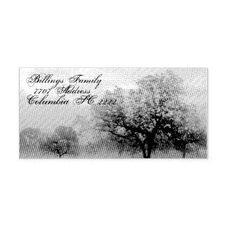 Árboles del sello de goma w/Texas de la tinta del