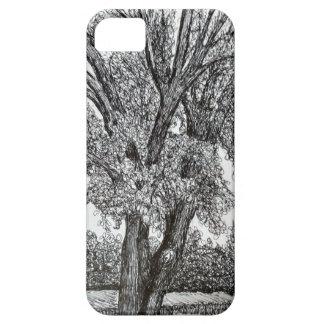 Árboles en pluma y tinta funda para iPhone SE/5/5s