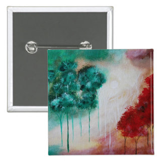 Árboles flacos encantados del paisaje del arte chapa cuadrada 5 cm