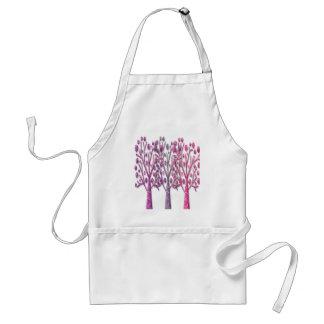Árboles mágicos rosados delantal