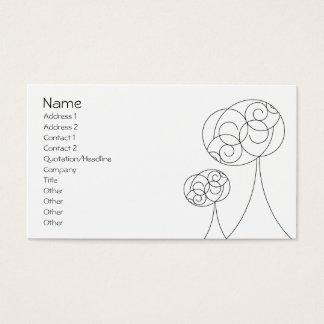 Árboles minimalistas tarjeta de negocios