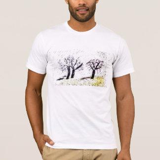 árboles negros del rasguño camiseta