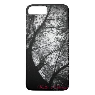 Árboles negros y blancos funda iPhone 7 plus
