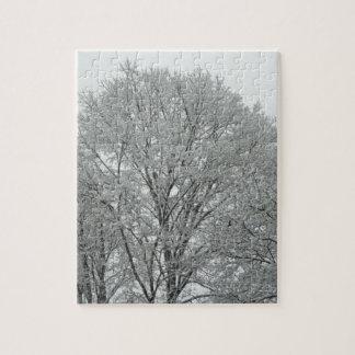 Árboles nevados puzzle