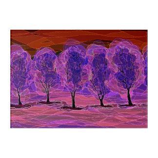 Árboles púrpuras… mi dibujo 2005 del arte de