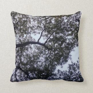 Árboles y almohada de tiro del cielo