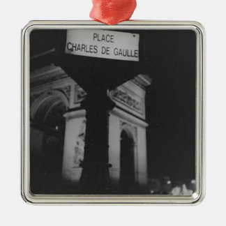 Arc de Triomphe Paris Place Charles de Gaulle Lomo Adorno Navideño Cuadrado De Metal