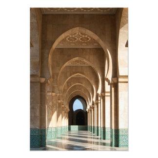 Arcada en la mezquita de Hassan II, Casablanca, Ma Fotografía