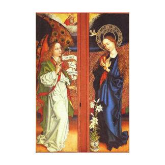Arcángel Gabriel - anuncio - Schongauer Impresión En Lienzo