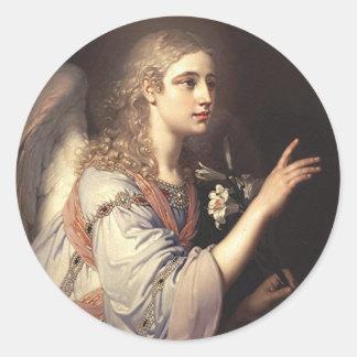 Arcángel Gabriel del anuncio Pegatina Redonda