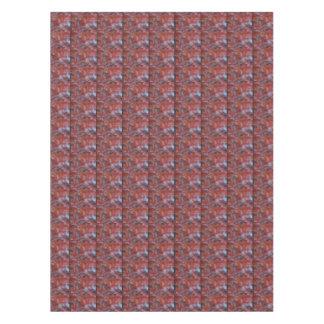 Arce rojo abstracto mantel