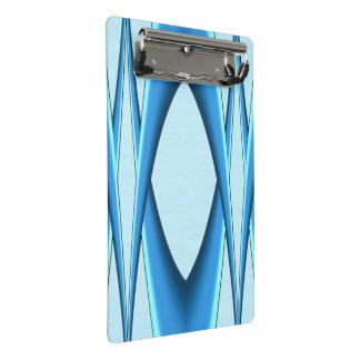Arco azul futurista minicarpeta de pinza
