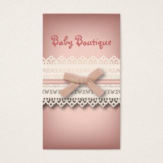 Arco blanco elegante femenino del rosa del cordón tarjeta de negocios