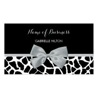 Arco blanco y negro elegante de los gris plateados tarjetas de visita