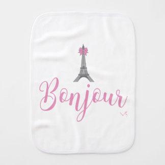 Arco de Bonjour Eiffel TowerPink lindo Paños Para Bebé