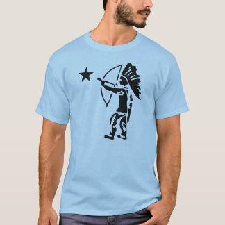Arco de estrella del norte del indio y arte pop de camiseta