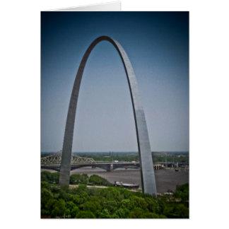 Arco de la entrada de St. Louis Tarjeta De Felicitación