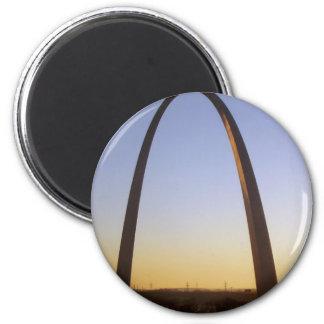 Arco de la entrada, St. Louis, MES Imán Redondo 5 Cm