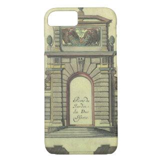 Arco de la puerta de jardín del vintage, funda iPhone 7