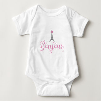 Arco de la torre de Bonjour-Eiffel único Body Para Bebé