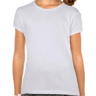 Arco de la turquesa del monograma camiseta