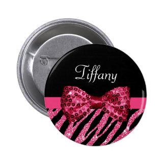 Arco de lujo del estampado de zebra rosado chapa redonda 5 cm