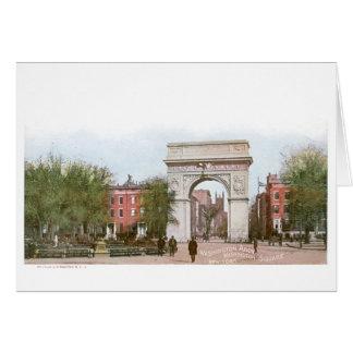 Arco de Washington, cuadrado de Washington, Nueva  Tarjeta De Felicitación
