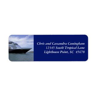 Arco del barco de cruceros de Slwwk personalizado Etiquetas De Remite