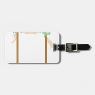 Arco del boda etiquetas para maletas