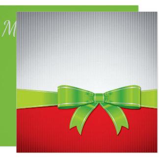 Arco del navidad invitación 13,3 cm x 13,3cm