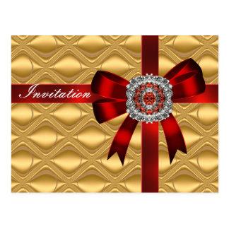 Arco del oro de la invitación de la postal e image