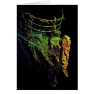 Arco del titánico según lo visto del sumergible tarjeta