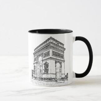 ~ Arco del Triunfo de París Taza